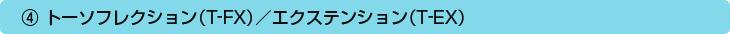 ④トーソフレクション(T-FX)/エクステンション(T-EX)